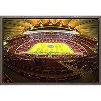 Cuadro enmarcado - Cuadro de el Estadio Wanda Metropolitano del Atlético de Madrid - Fotografía artística y moderna de…