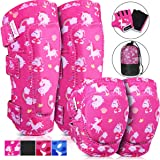 MOVTOTOP Knee Pads for Kids, Soft Kids Knee and Elbow Pads with Gloves Set-Reinforced Stitching Around, Toddler Sports…
