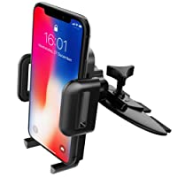 Car Phone Holder, Mpow CD Slot Car Phone Mount Grip Pro 2 Universal Easy CD Slot Cars Mount with Just A Push 360° Rotation Car Cradle for iPhone X/10 8 7 6/6 Plus 5S 5 Samsung Galaxy S9 S8 S8+ S7 Note 9 HTC Nexus 4 LG HUAWEI and Others