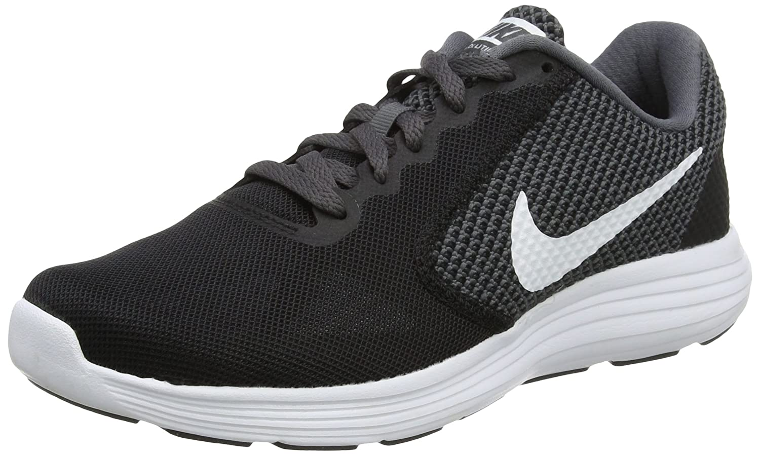 NIKE Women's Revolution 3 Running Shoe B010RSH70U 12 B(M) US|Dark Grey/White/Black