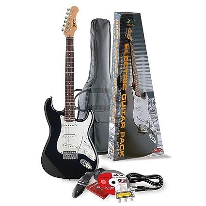Stagg-Guitarra eléctrica Pack, S300, Negro: Amazon.es ...
