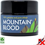 Mountain Blood POTENT and PREMIUM Shilajit (40 grams for 3-6 Months Supply) - UK Quality Tested and Packaged in Miron Glass