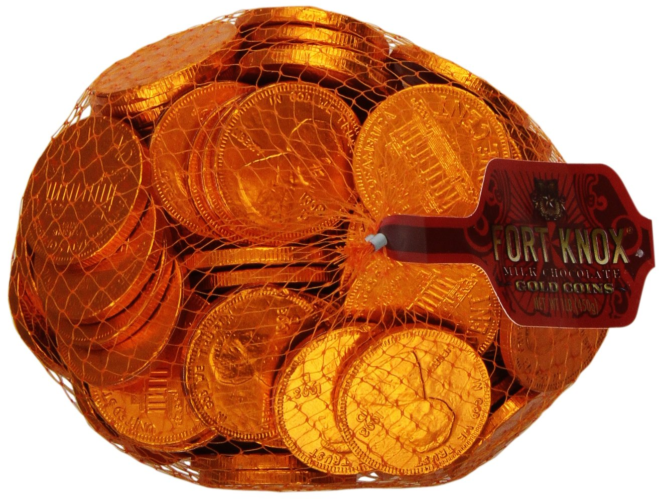 Fort Knox Chocolate Coins, Large Pennies,16-Ounce Bag: Amazon.com ...
