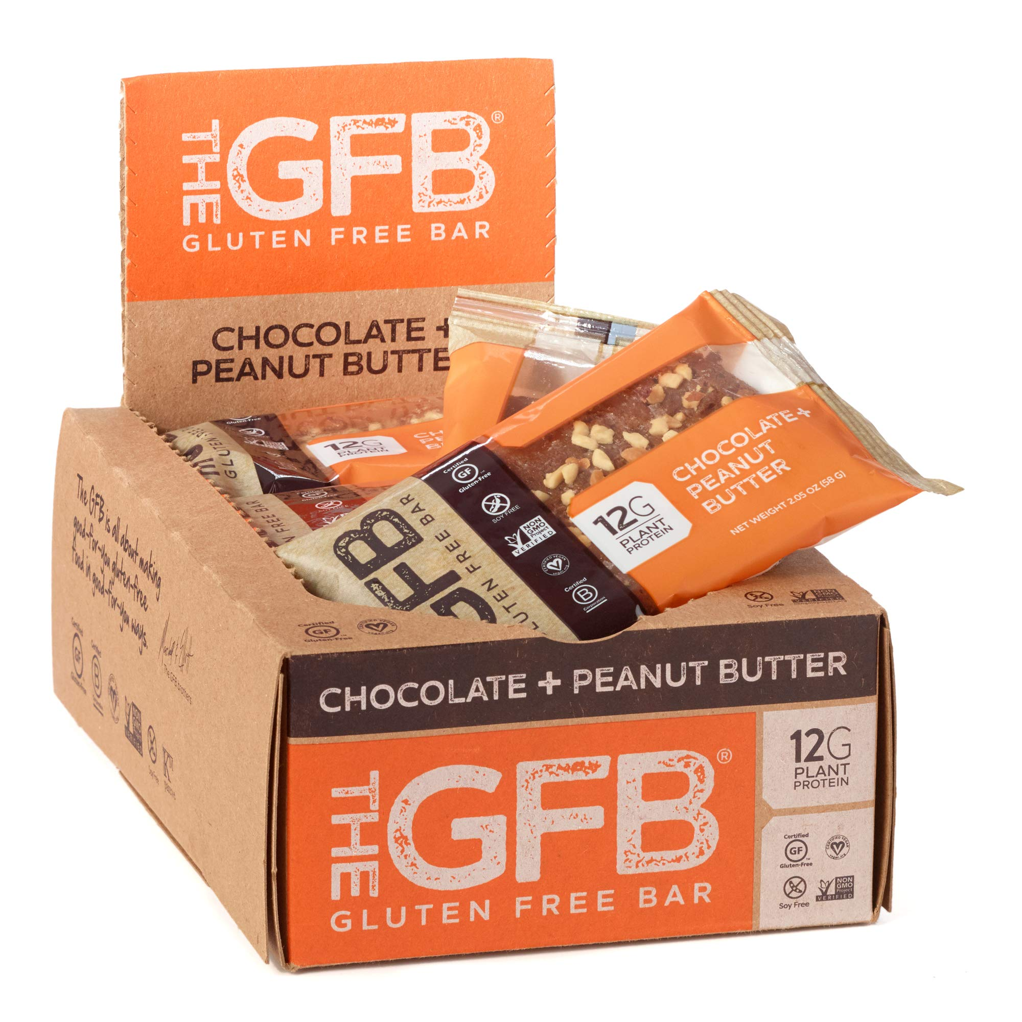 The GFB Protein Bars, Chocolate Peanut Butter, 2.05 Ounce (Pack of 12), Gluten Free, Non GMO by The Gluten Free Bar