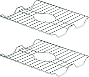 """DecorRack 2 Small Sink Protectors, 12.75"""" x 10.5"""", Rust-Resistant Chrome Finish, Kitchen Sink Dish Rack, Protect Sink from Stains, Damage, Scratches, Dishwasher Safe Sink Grid for Kitchen (2 Pack)"""