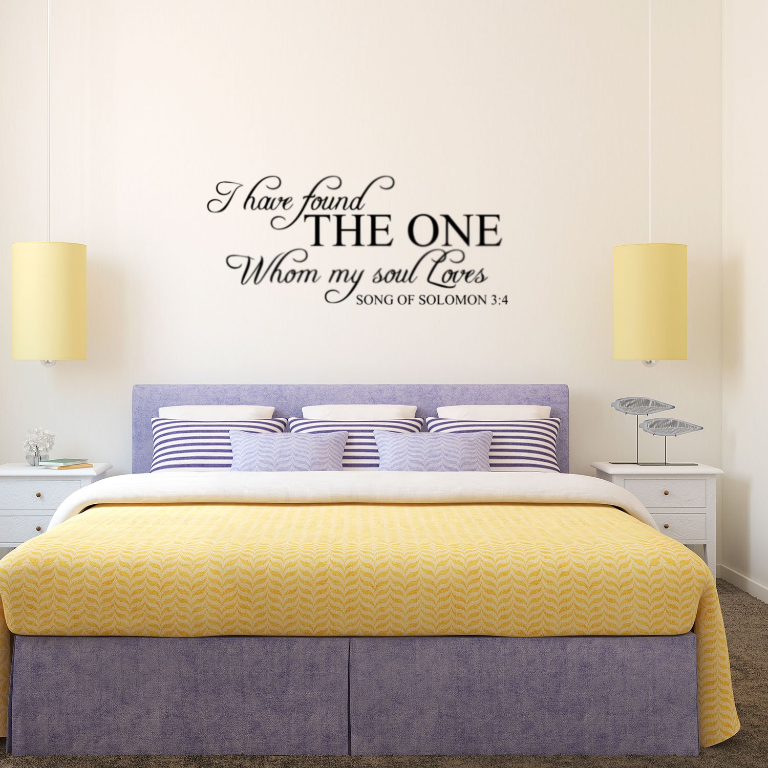 Song of Solomon 3:4 I Have Found My Soul - Wall Decal Vinyl - 13'' x 28'' - Religious Vinyl Wall Art - Christian Wall Decoration - Love Quote Bedroom Decor