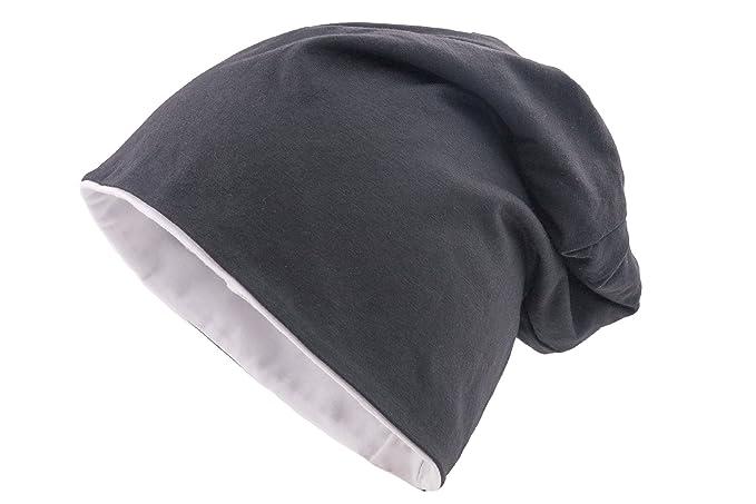 shenky - Berretto sottile e lungo in jersey - unisex - primavera estate -  berretto reversibile f0116f4a6aaf