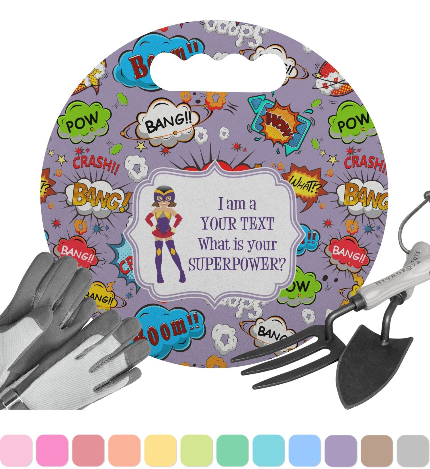 RNK Shops What is your Superpower Gardening Knee Cushion (Personalized)