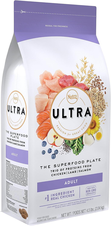 NUTRO ULTRA Adult Dry Dog Food, Chicken Lamb & Salmon Flavor