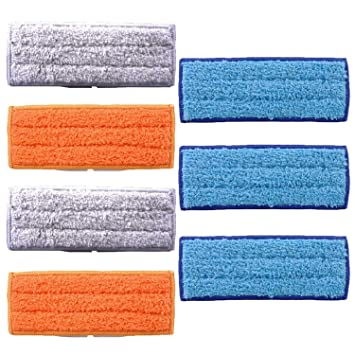 Bayetas para mopa FiYenn, 7 unidades, lavables y reutilizables, 3 unidades de paño