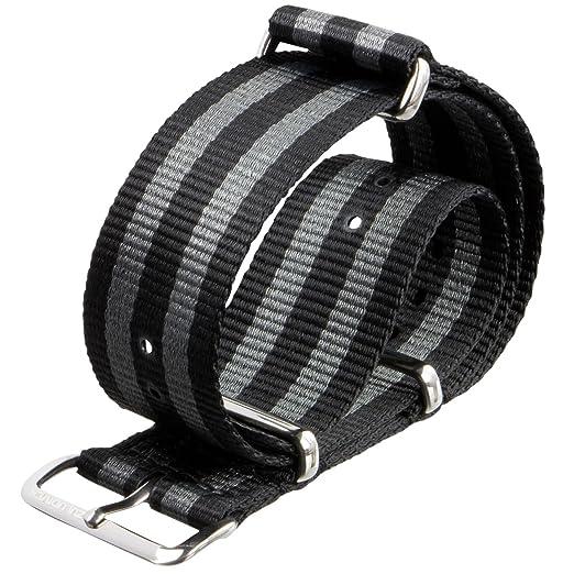 2 opinioni per Cinturino orologio ZULUDIVER® Nylon G10 NATO Strisce nero/grigio 20mm