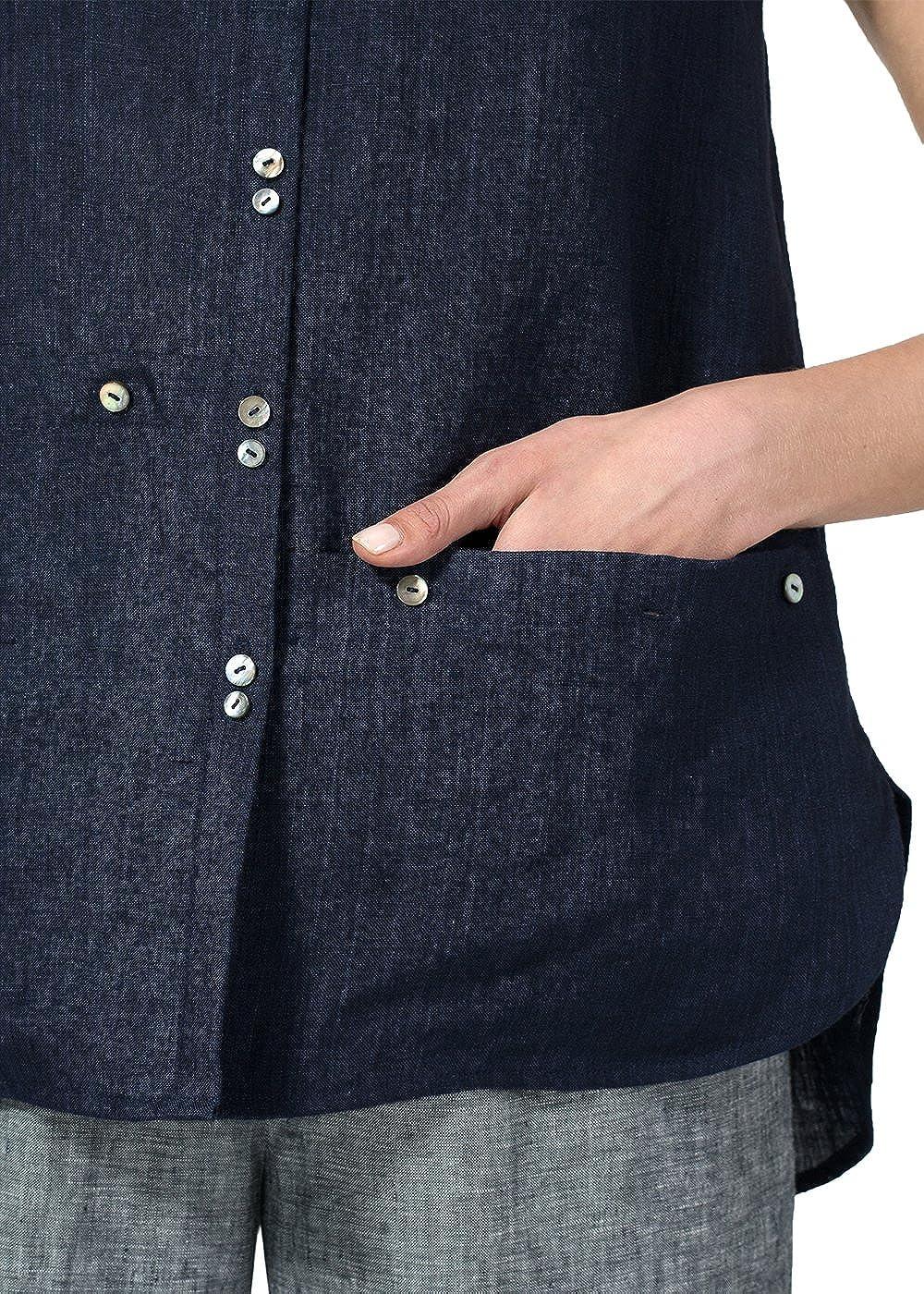 Vivid Linen Cap Sleeve Blouse