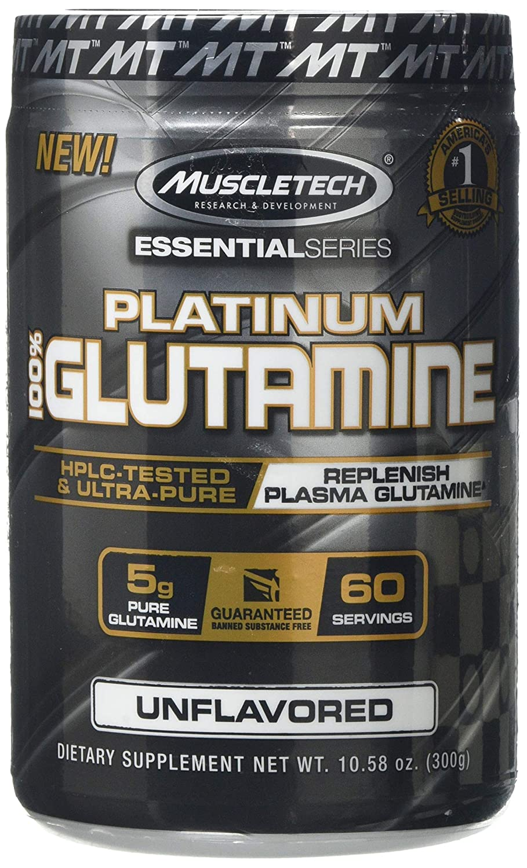 MuscleTech 300mg Platinum Micronized Glutamine Supplement