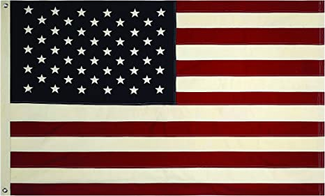 Amazon Com Creative Co Op 60 X 36 Fabric Usa Flag Wit Grommets Home Kitchen