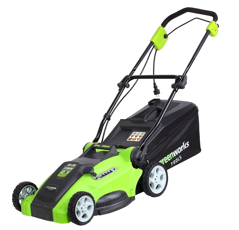 Greenworks Tools 25147 1200W Elektrorasenmäher mit Metalldeck, Schnittbreite 40 cm