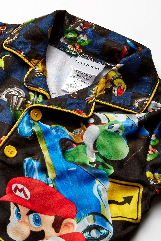 Super Mario Boys Soft Knit Flannel Button Down Pajama Set Pajama Set