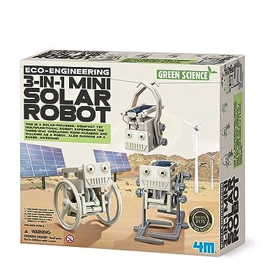 4M-3-In-1 Mini Solar Robot Robotica (00-03377): Juguetes y juegos