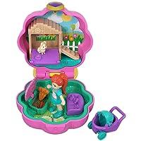 Polly Pocket Mini-Coffret rose La Maison Lapin de Lila avec 1 Mini-Figurine et Accessoires Carottes, Chiot et Poussette, Jouet Enfant, édition 2018, GCN08