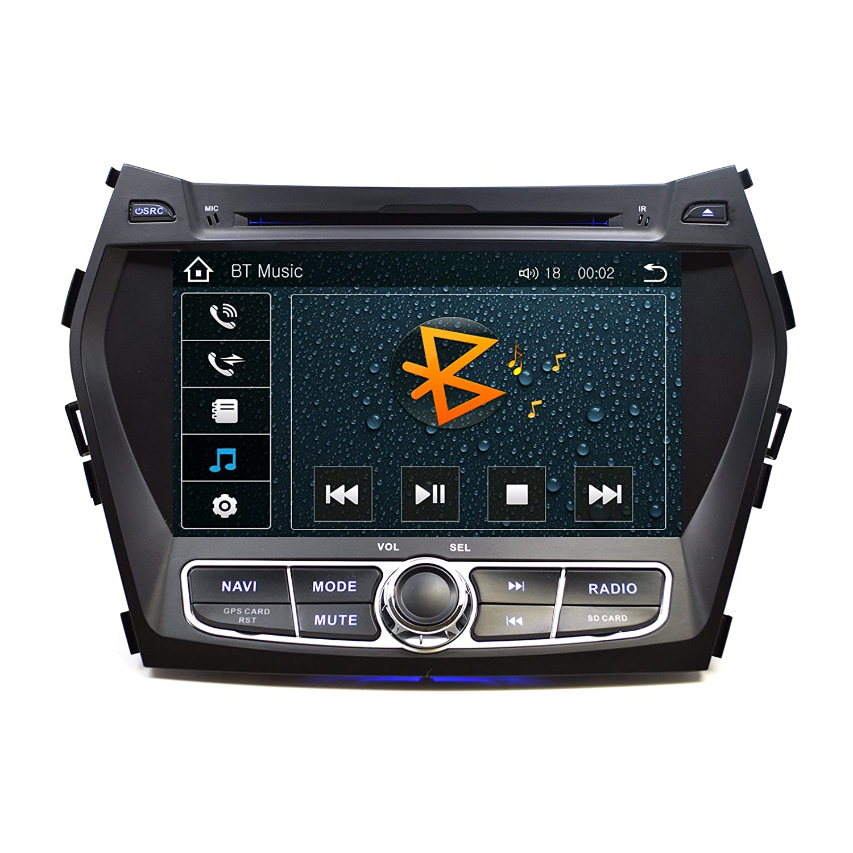 Ottonavi Hyundai Santa Fe 2013 2016 Oem Replacement In Car Head Unit Wire Harness Same As Computer Dash 8 Touchscreen Gps Navigation Bluetooth Multimedia Radio
