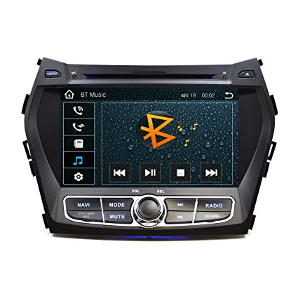 "OTTONAVI Hyundai Santa Fe 2013-2016 OEM Replacement In Dash 8"" Touchscreen GPS Navigation"