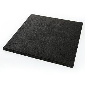 Estera 50 x 50 x 2,5/4,5 cm, varios colores, Placa protectora suelo – Alfombrilla de goma de jardín