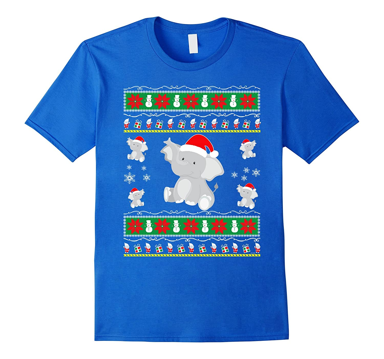 Emoji Elephant Ugly Christmas Sweater T shirt adults kids