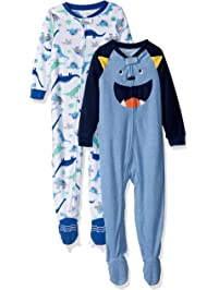 Carter s Baby and Toddler Boys  2-Pack Fleece Footed Pajamas 37d2b333d