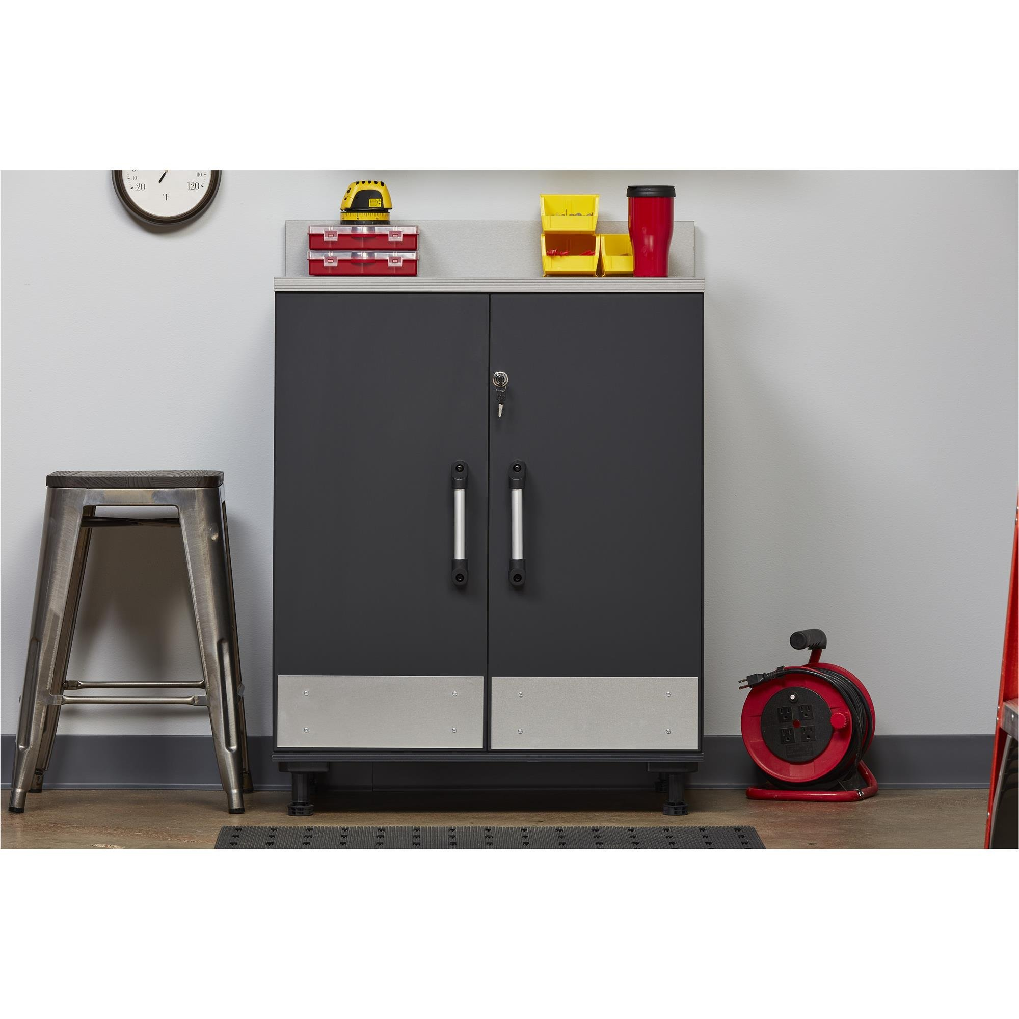 Ameriwood Home Boss -Base Cabinet 2 Door, Charcoal Gray by Ameriwood Home (Image #7)