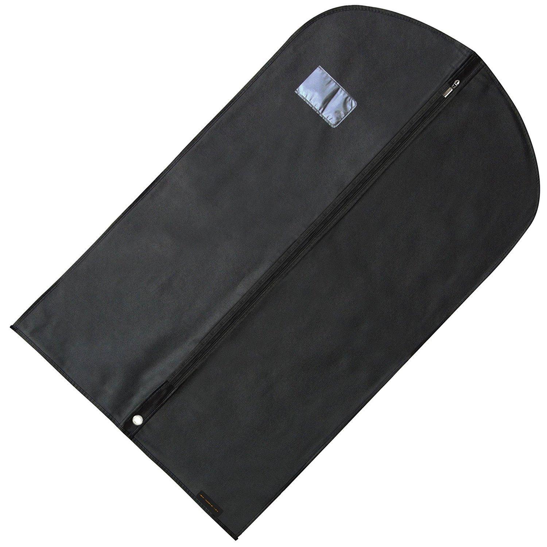 Hangerworld Lot synthétiques 101,6cm Adapter respirant vêtement Housse de vêtement, Noir Z-40-BLACK