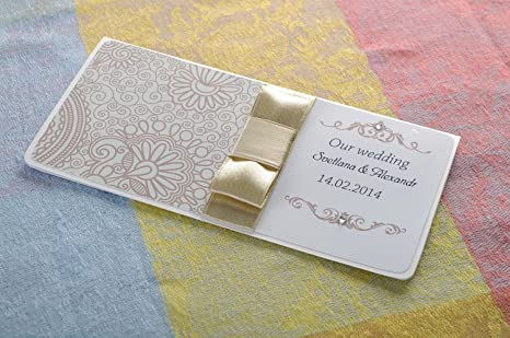 Amazon Com Wedding White Handmade Invitation Card Postcard Design