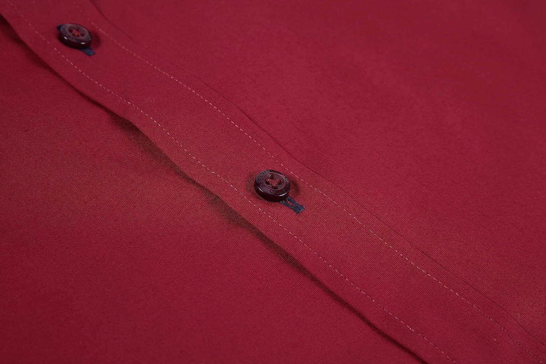 Markalar Mens Casual Button Down Shirts Regular Fit Long Sleeve Cotton Dress Shirt
