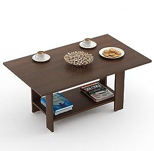 Bluewud Osnale Coffee Table (Wenge, Rectangular)
