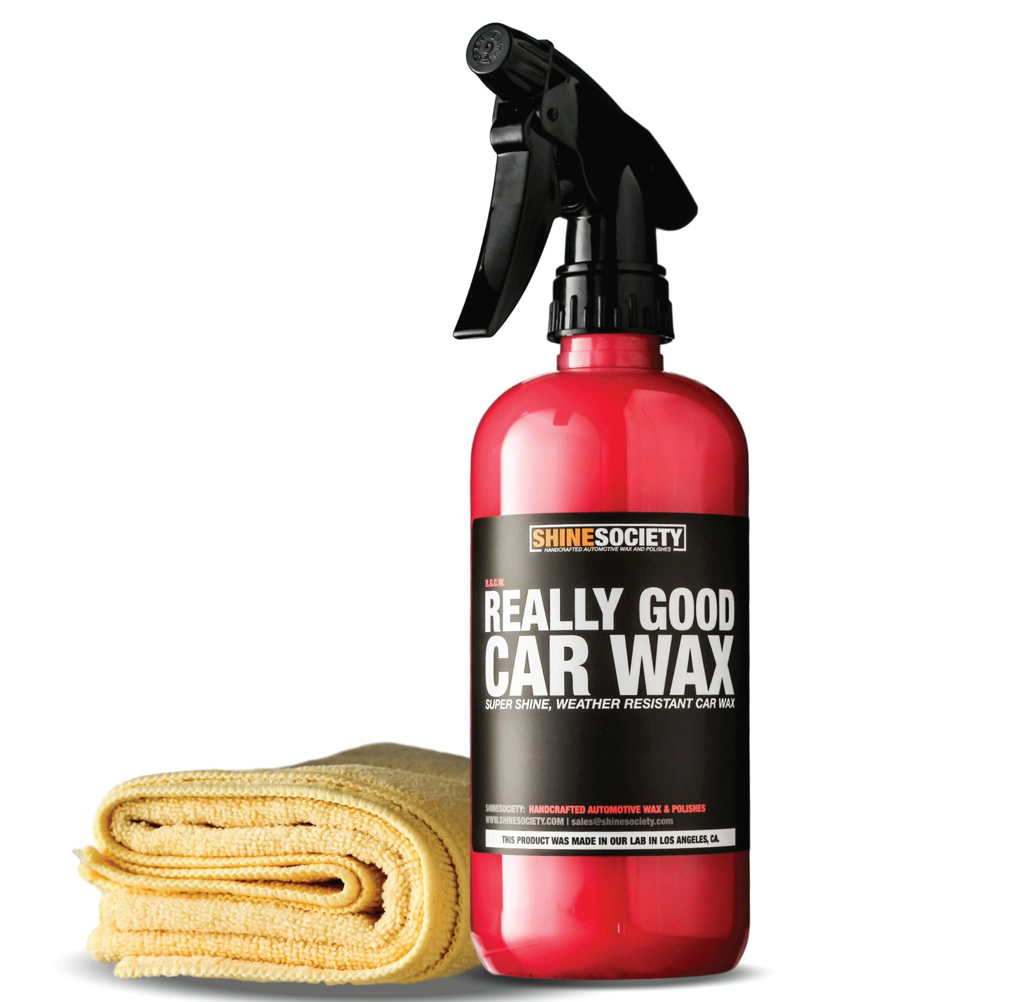 Shine Society Really Good Car Wax, Adds a Super Shine Finish and Weather Resistant Barrier To Paint and Vinyl, with MICROFIBER TOWEL INCLUDED (18 oz.)