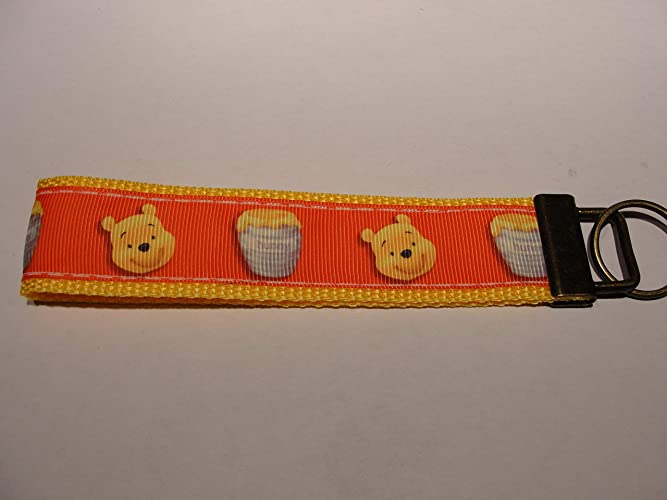 Amazon.com: Disney Winnie Pooh Key fob Strap or Key - Purse ...