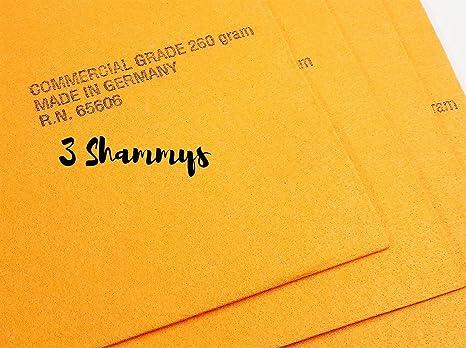 "Gamuza sintética color naranja toallas de Shammy de -3- Super absorbente 27 """