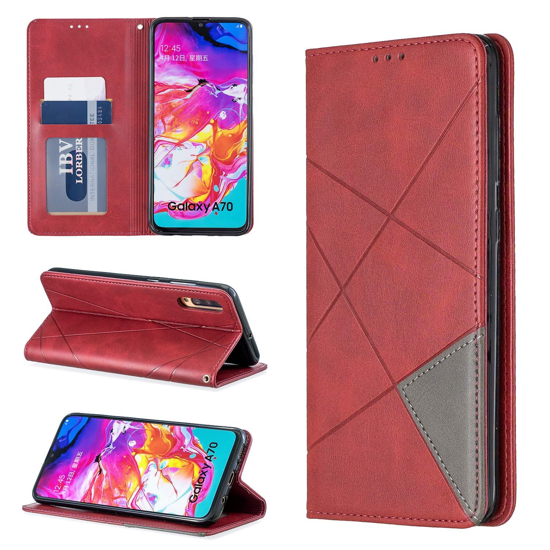 LOBFE160078 Gelb Lomogo Galaxy A70 H/ülle Leder Schutzh/ülle Brieftasche mit Kartenfach Klappbar Magnetverschluss Sto/ßfest Kratzfest Handyh/ülle Case f/ür Samsung Galaxy A70