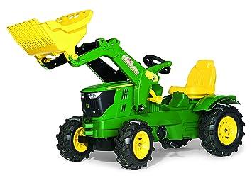 rolly toys 61 110 2 Rollyfarmtrac John Deere 6210 R - Tractor de pedales (con pala y ruedas ligeras): Amazon.es: Juguetes y juegos