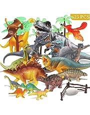 Joylink Juego de Dinosaurios, 17 PCS Dinosaurios de Juguete, Dinosaurio Jurásico Mundo Dinosaurio de Construcción de Juguete