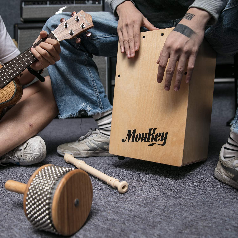 Moukey Kids Cajon DCD-1K Wooden Small Mini Cajon Drum Box with Bag, Birchwood Percussion String by Moukey (Image #7)