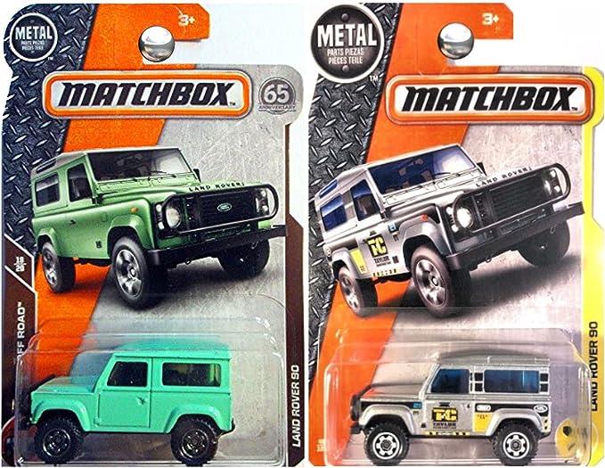 Matchbox 2017 y 2018 Land Rover 90 en Verde y Plata Set de 2: Amazon.es: Hogar
