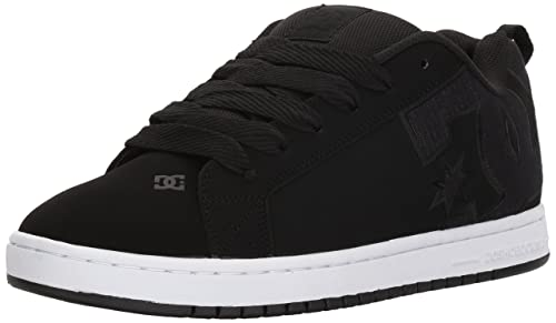 DC Shoes Men's Court Graffic Se Low Top Shoes Black/Gray 8