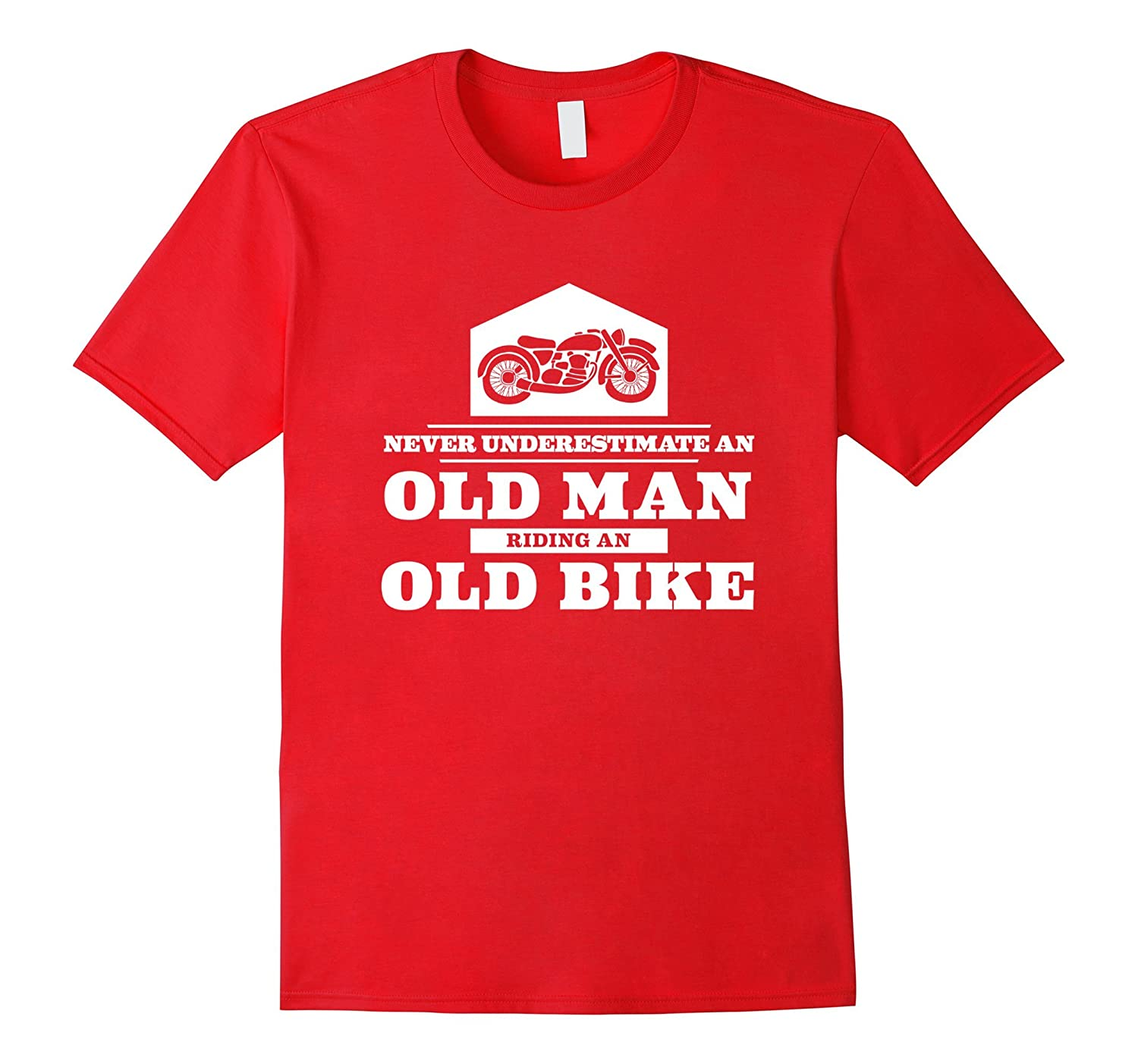 Never underestimate an old man riding an old bike funny tee-TH