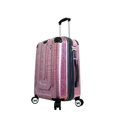 Mia Toro Luggage Macchiolina Polish Hardside Spinner Carry-On Bur, Burgundy, One Size