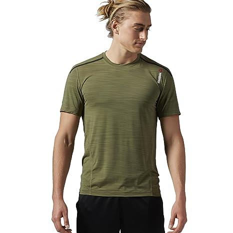 6d72cf15d81f Amazon.com  Reebok Men s One Series Activchill Bonded Short Sleeve ...