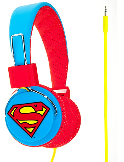 3 opinioni per Superman Man of Steel Cuffie Junior, Blu/Rosso
