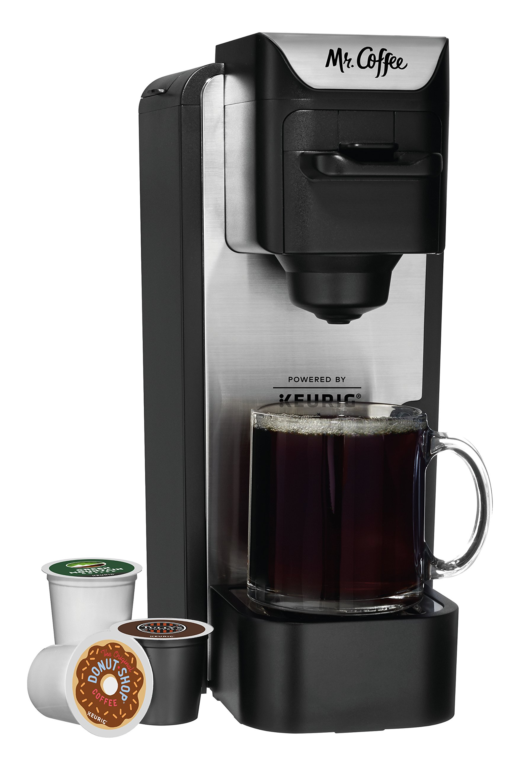 Mr. Coffee K-Cup Coffee Maker System with Reusable Grounds Filter, Silver by Mr. Coffee