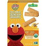 Earth's Best Organic Sesame Street Toddler Crunchin' Grahams, Honey Sticks, 5.3 oz. Box