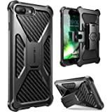 iPhone 7 Plus Case, i-Blason Transformer [Kickstand] Apple iPhone 7 Plus 2016 Release [Heavy Duty] [Dual Layer] Combo Holster Cover case with [Locking Belt Swivel Clip] (Black)