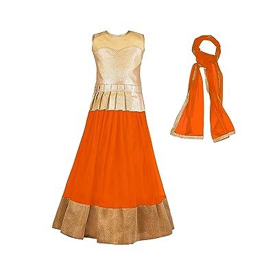 1ae3385007e8 Mahavir Fashion Girls Kids Party Wear semi-stitched Lehenga Choli ...