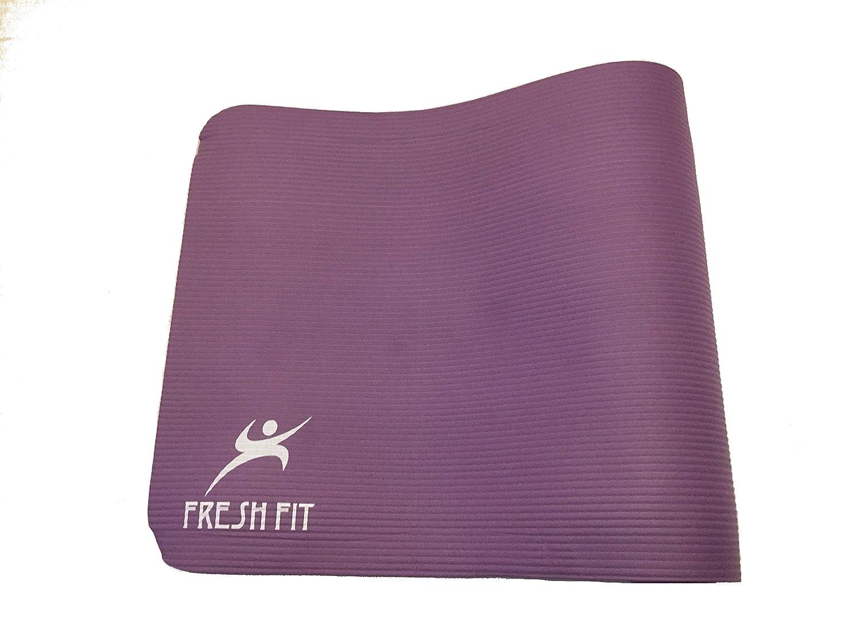 Dotato di Cinghia per Il Trasporto Grande Tappetino Imbottito e Spesso Fresh Fit Tappetino da Yoga Allenamento e Pilates per Fitness